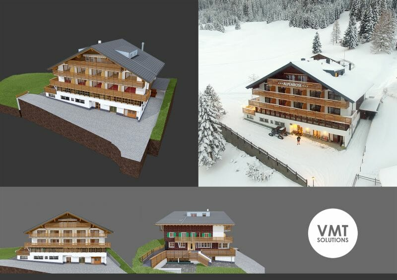 mô hình hóa 3D bằng ArchiCAD, alpenrose
