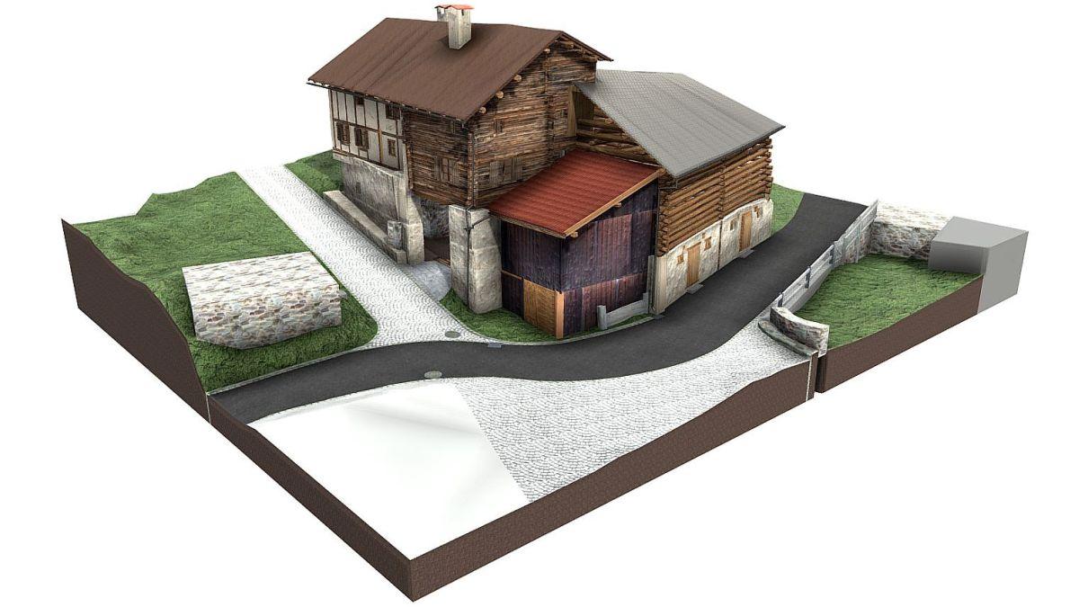 Wohnhaus mit Stall