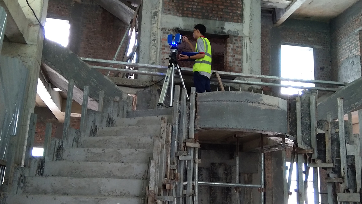 Interior design with 3D laser scanning