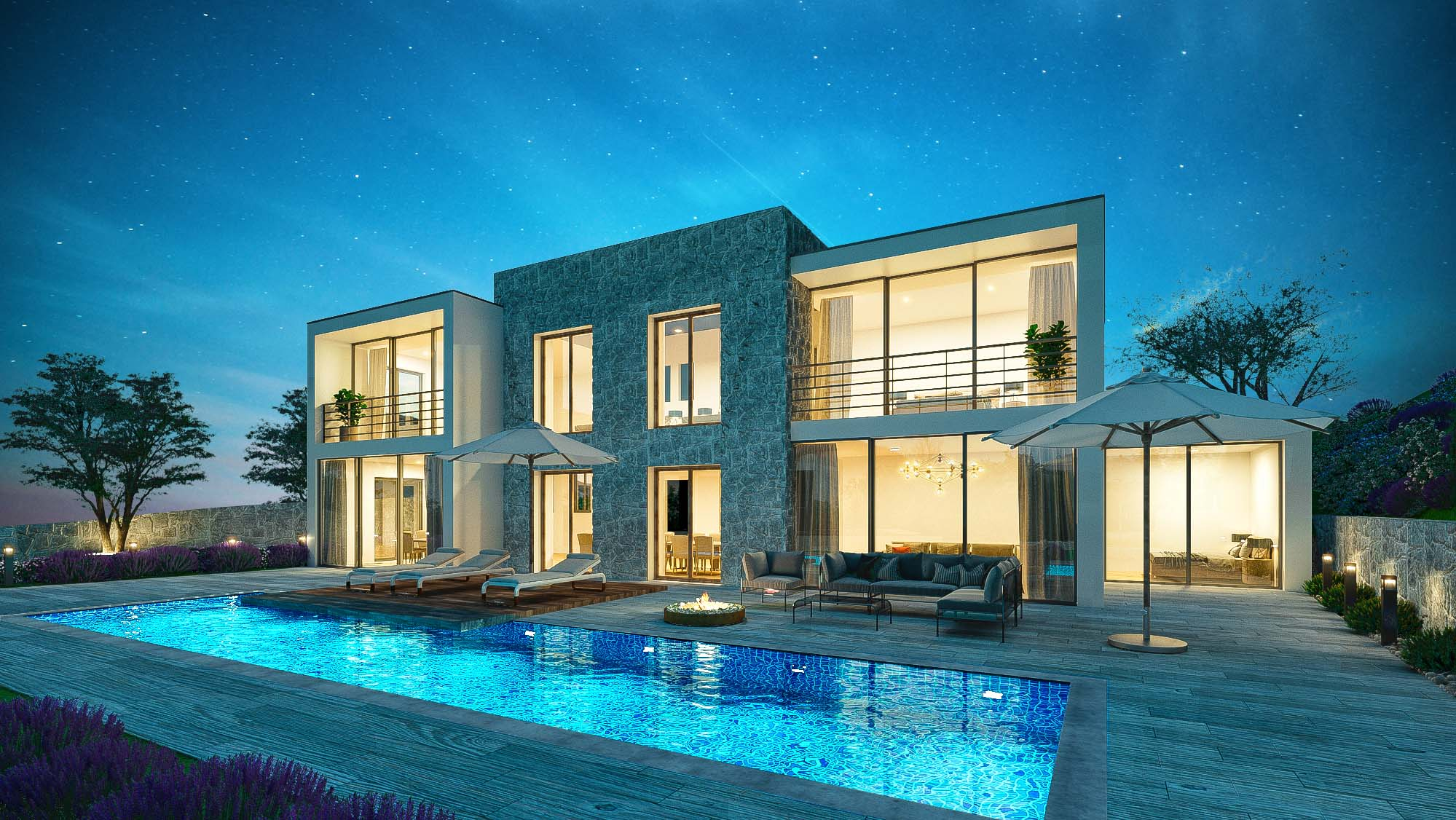3D Rendering Exterior day & night