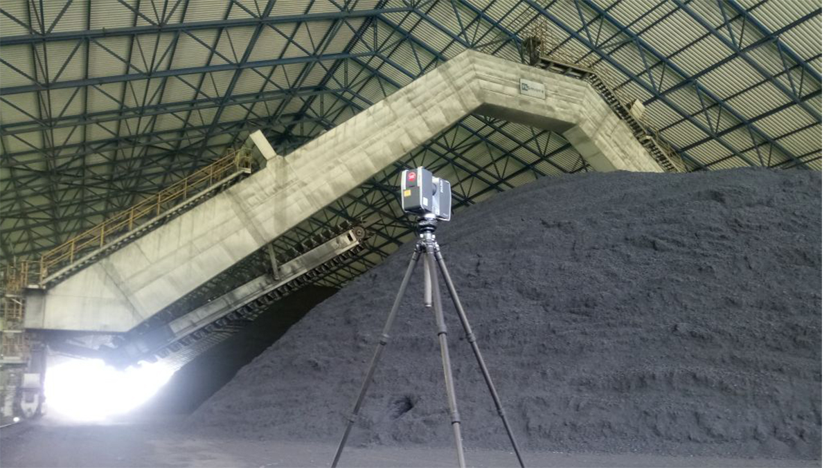 Volume calculation of coal stockpile