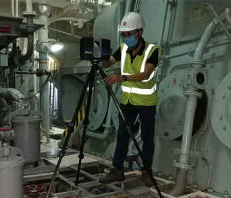 Quét 3D hỗ trợ lắp đặt hệ thống xử lý nước dằn (BWTS) tại cảng Gò Gia