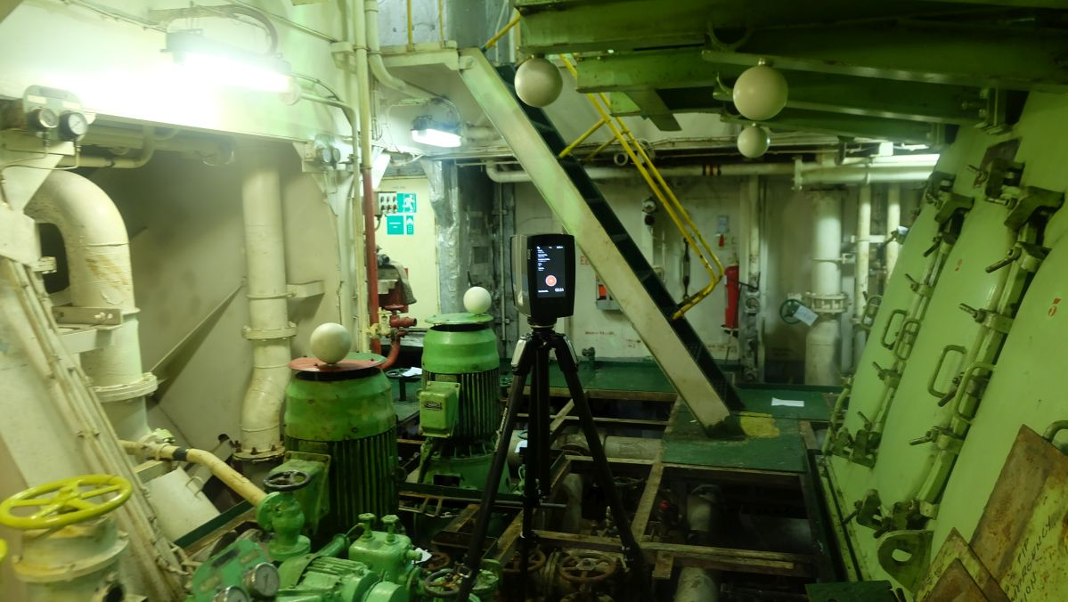 3d scanning for BWTS Retrofit in Tra Vinh