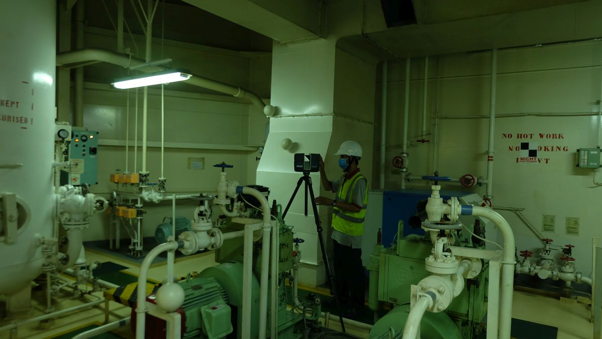 3D Laser scanning for BWTS installation in Cai Mep