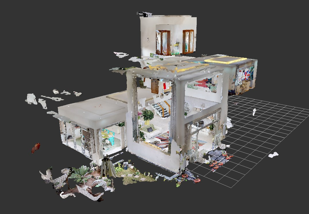 matterport point clouds, matterport punktwolken