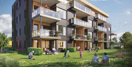 Modern apartment exterior design