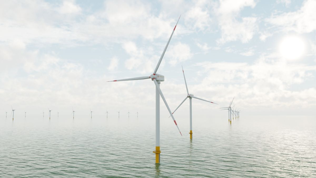3D Animation Offshore Windfarm