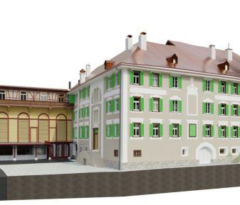 Dựng 3D Model Historic Hotel