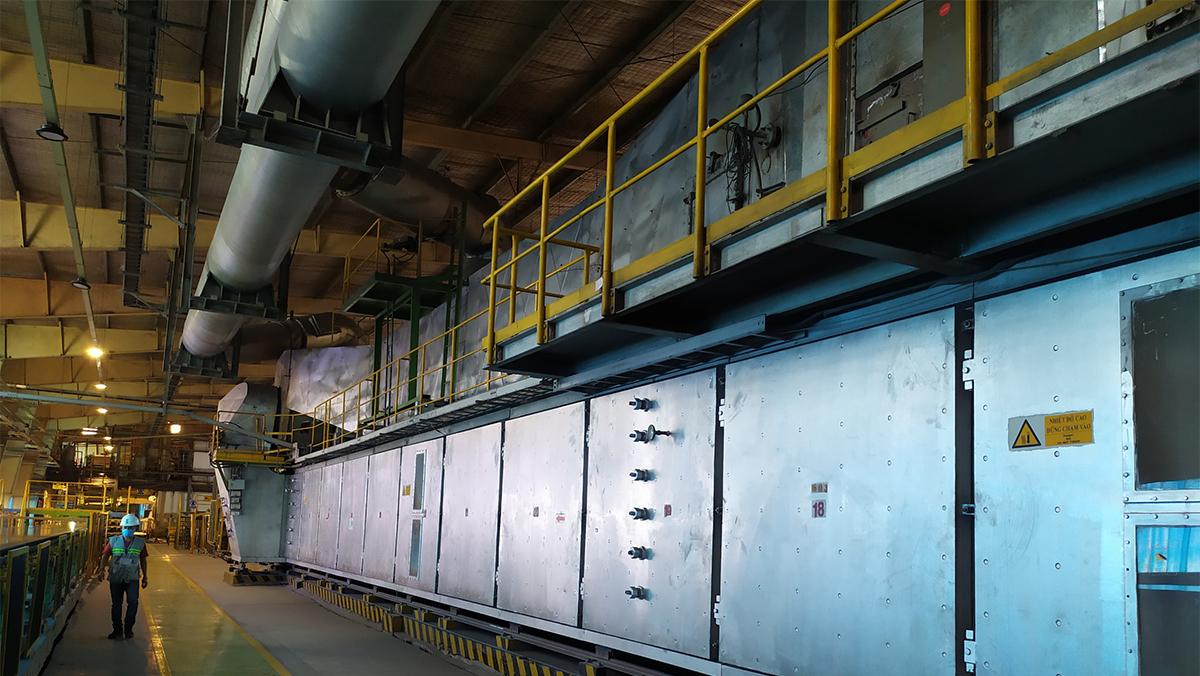 Construction materials factory