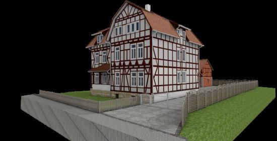 3D modelling half-timbered house, 3d modellierung fachwerkhaus